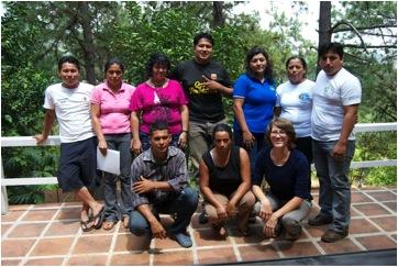 Rosie with the Amando Lopez Community Borad