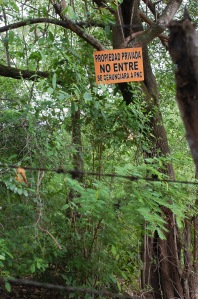 In El Chile, land speculators have started to buy the best land and deny access to locals, which is against the law...