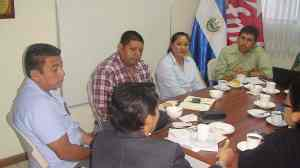 Meeting with FMLN diputados about agrochemcials