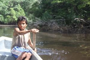 Young punchero from La Tirana giving a tour of the community's mangrove forests