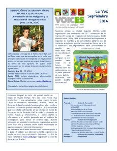 Voices Newsletter Sept. 2014 (spa)