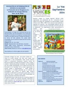Voices Newsletter Sept. 2014 (spa)