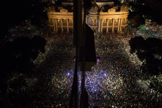 brazil-rio-marielle-franco-protest-funeral