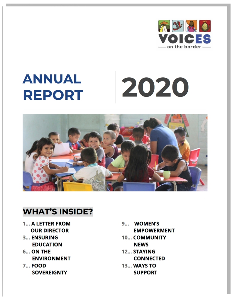 2020 VOTB Annual Work Report